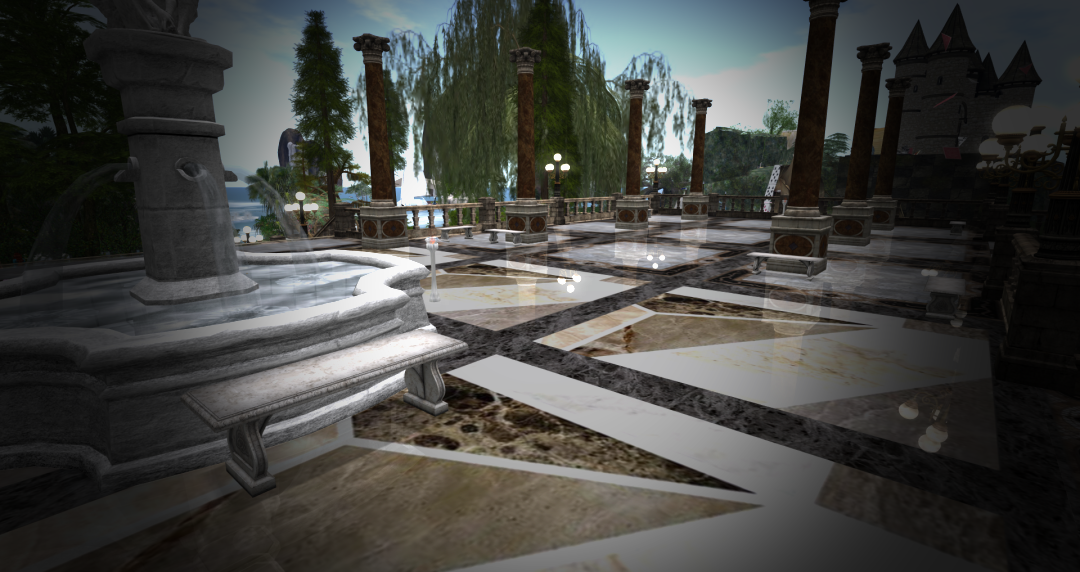 Diamond Reflections Piazza - Fire And Ice Opensim Grid