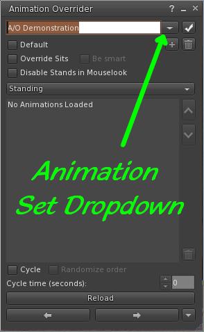 Firestorm Animation Override Window