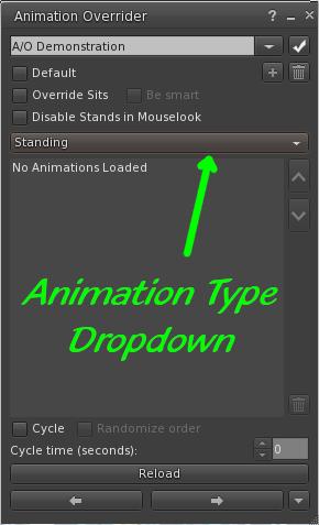 Animation Type Drop Down Menu