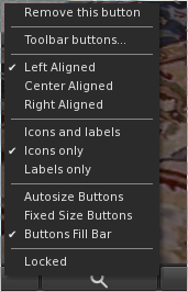 Customise Firestorm Viewer Buttons - Buttons Right Click Menu