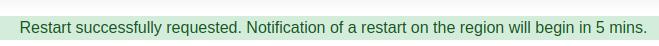 Website Restart Confirmation