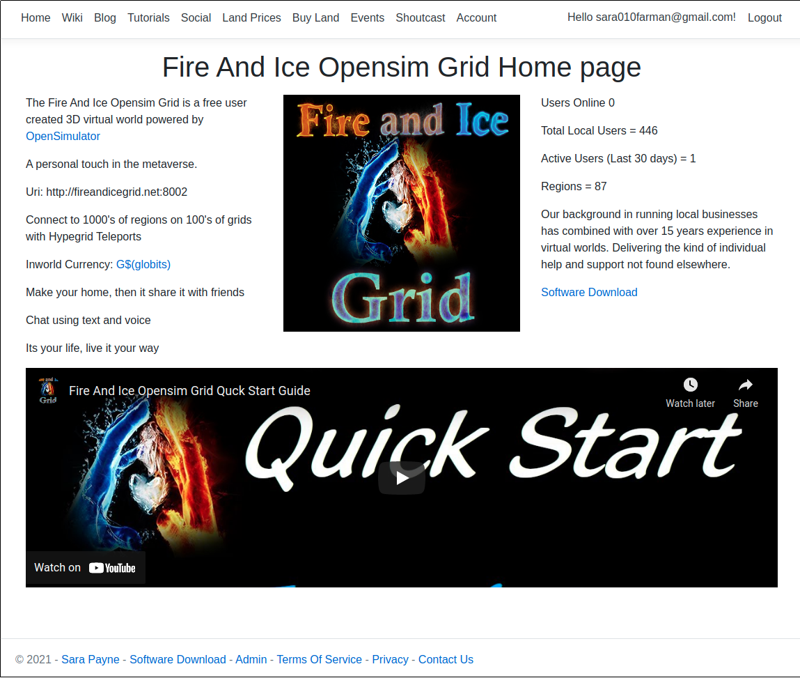Fire And Ice Website