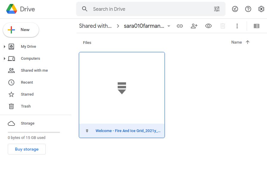 Google Drive File In The Shared Folder