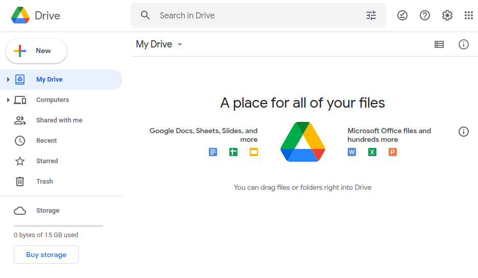 Google Drive Personal - Shared With me