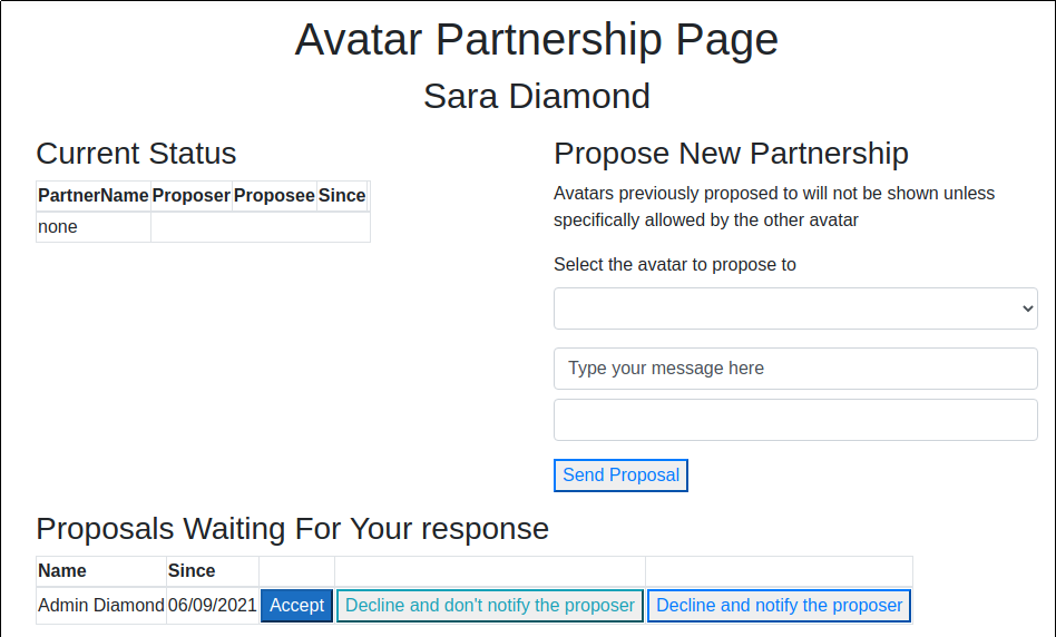 Proposal made, unanswered view for recipient - Website Partnership Available at Fire And Ice